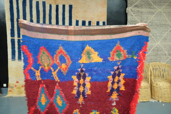 Soft Moroccan Boucherouite Rug runner 6 ft x 3.60 ft