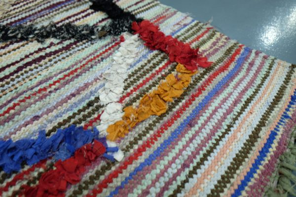 Handmade Kilim Boucherouite rug 4.92 ft x 3.14 ft