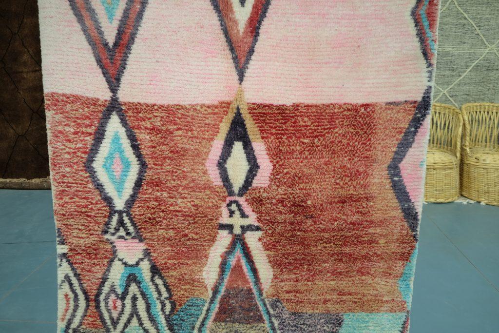 Moroccan Boucherouite rug 7.21 ft x 4.95 ft