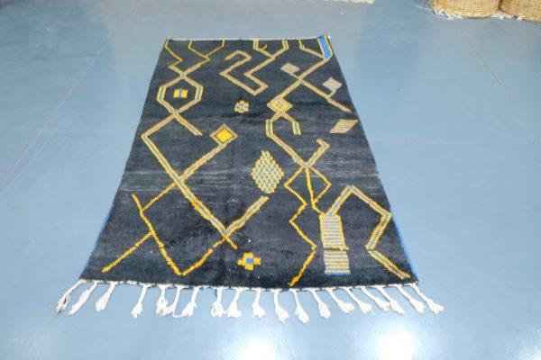 Black Azilal rug 7.87 ft x 4.52 ft