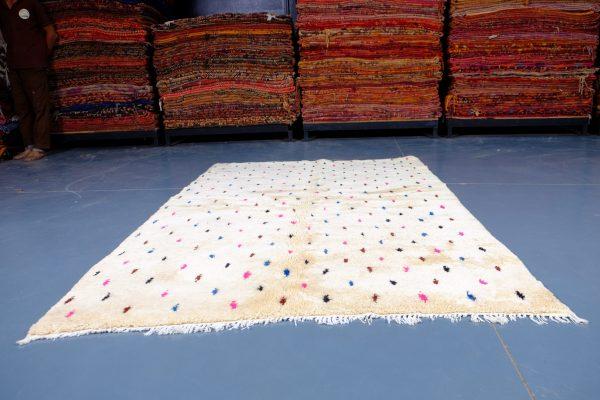100% Wool Azilal rug 7.34 ft x 4.92 ft