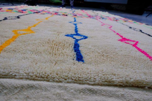 Wool MoroccanAzilal rugs 9.02 ft x 6.49