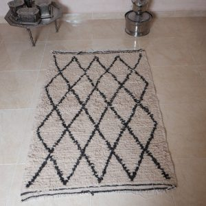 Small beni ourain rug, 4.46 ft x 2.88 ft