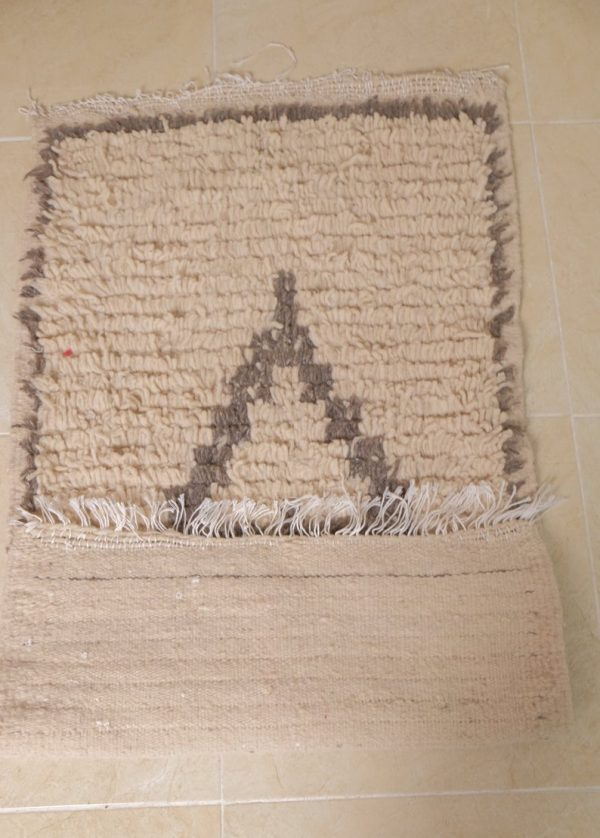 Small beni ourain rug, 3.87 ft x 2.13 ft