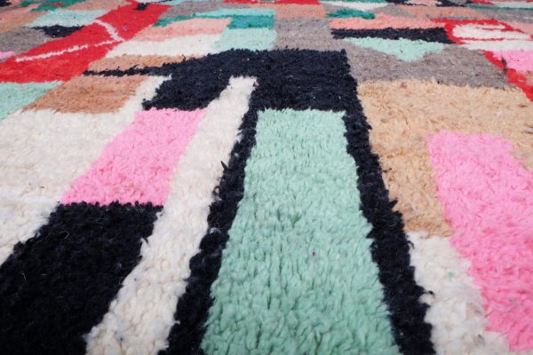 Colored Moroccan Rug 9.74 ft x 6.66 ft
