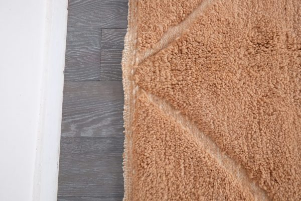 Moroccan rug peach , beni Ourain rug, 9,67 ft x 6.4 ft