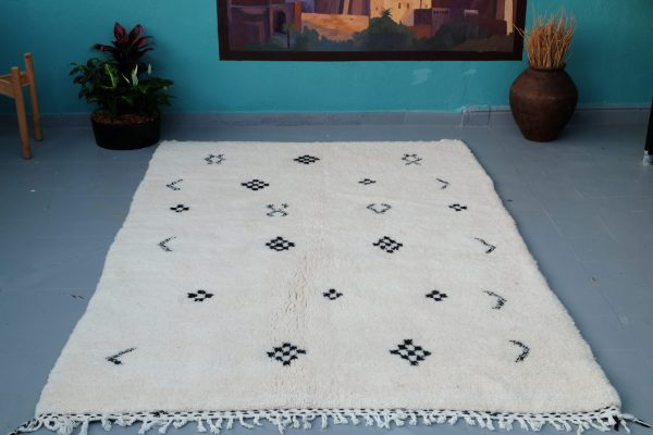 Beni ourain rug, 7.48 ft x 5.08 ft
