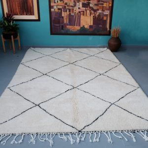 Beni ourain rug 9.84 ft x 6.98 ft