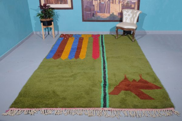 Moroccan Rug 9.64 ft x 6.62 ft