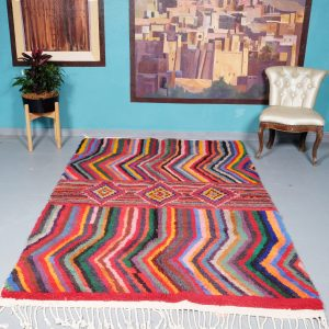 Moroccan Rug 8.07 ft x 5.11 ft