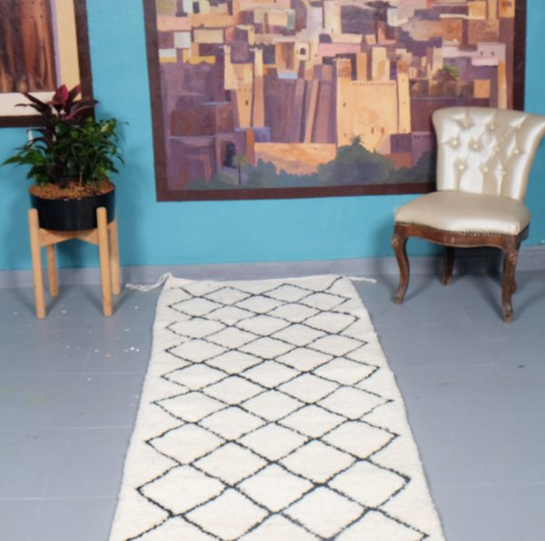 Beni ourain rug 9.51 ft x 2.75 ft