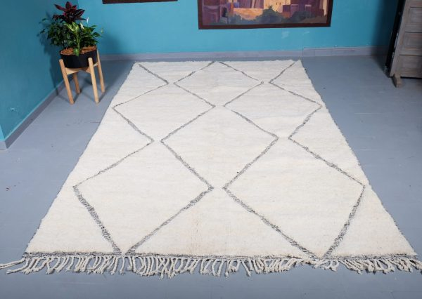 Beni ourain rug 10 ft x 6.46 ft