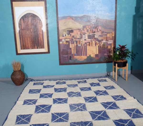 Beni Ourain rug, 9.48 ft x 7.38 ft