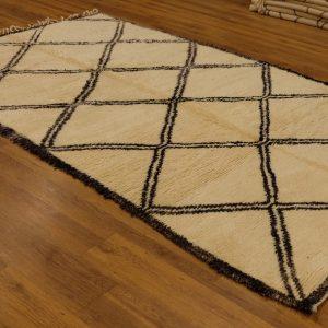 Authentic art deco Beni ourain rug, 10.2 ft x5.77 ft
