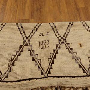 Authentic art deco Beniourain rug, 10.16 ft x6 ff
