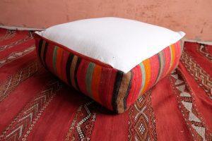 """Moroccan pillow - Handmade Square Kilim Pouf 23"""" x 23"""" x 8"""""""