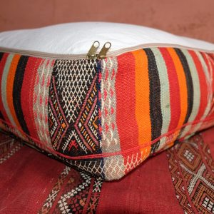 "Square Pillow pouf kilim 23"" x 23"" x 8"""