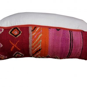 "Red square Moroccan Pillow pouf kilim 23"" x 23"" x 8"""