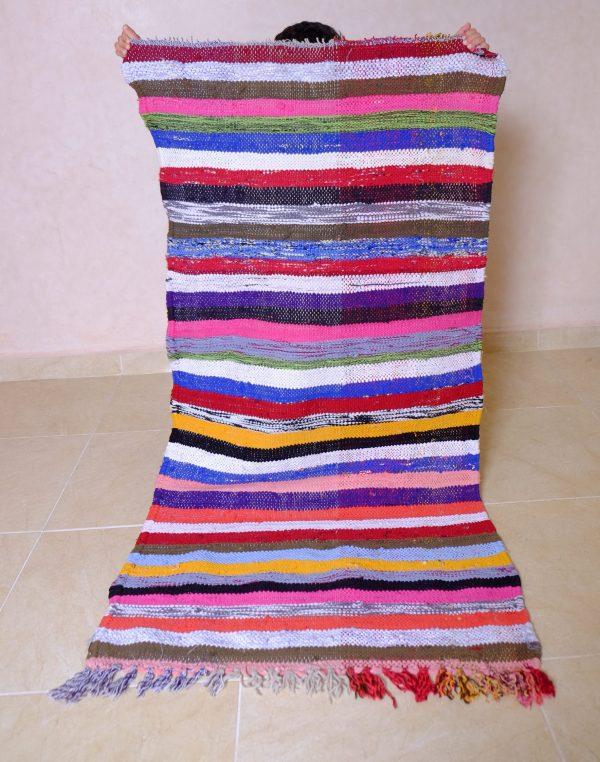 Small Boucherouite rug, 4.59 ft x 2.39 ft