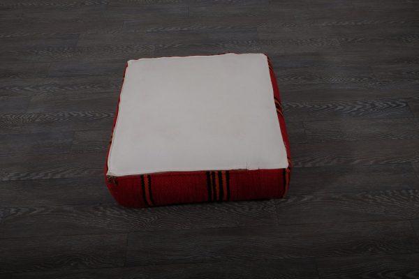 "Red Moroccan Cushion, 23"" x 23"" x 8"""