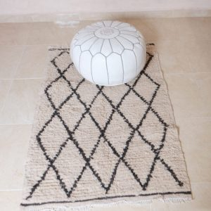 2 small beni ourain rugs, 4.46 ft x 2.88 ft