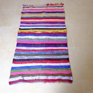 Small Moroccan Boucherouite Rug, 4.69 ft x 2.39 ft