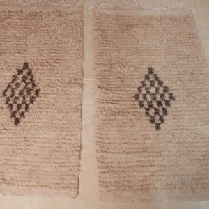 2 Small beniouarain rugs, 4.65 ft x 2.69 ft