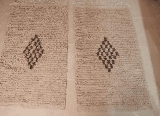 2 Small beniouarain rugs, 4.65 ft x 2.69 ft