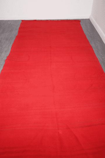 Large red vintage moroccan rug, 11.8 ft x 4.98 ft