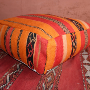 "Colored Square Moroccan Handmade Pillow 23"" x 23"" x 8"""