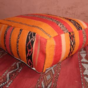 "Colored Square Moroccan Handmade Pillow 23"" x 23"" x 8"""
