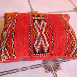 """Handmade pillow Kilim Pouf 18"""" x 18"""""""