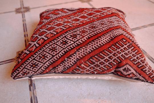 """Vintage Pillow pouf kilim 18"""" x 18"""""""