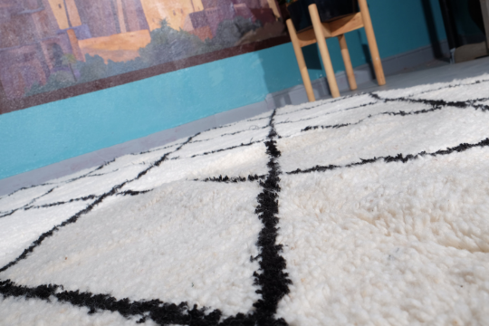 Beni ourain rug 7.70 ft x 4.92 ft