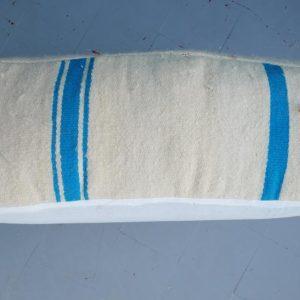 Set of 2 Moroccan square poufs, 24''x24''x8''