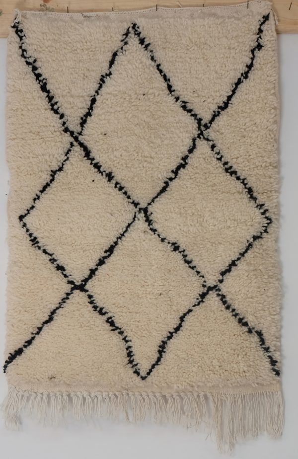 Moroccan Beni ourain Rug 2.9 ft x 2.1 ft