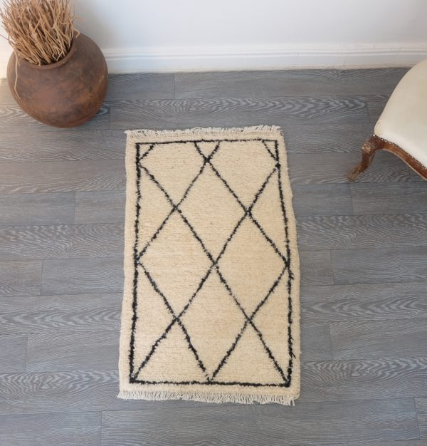 Moroccan Beni ourain Rug 2.95ft x 1.95ft