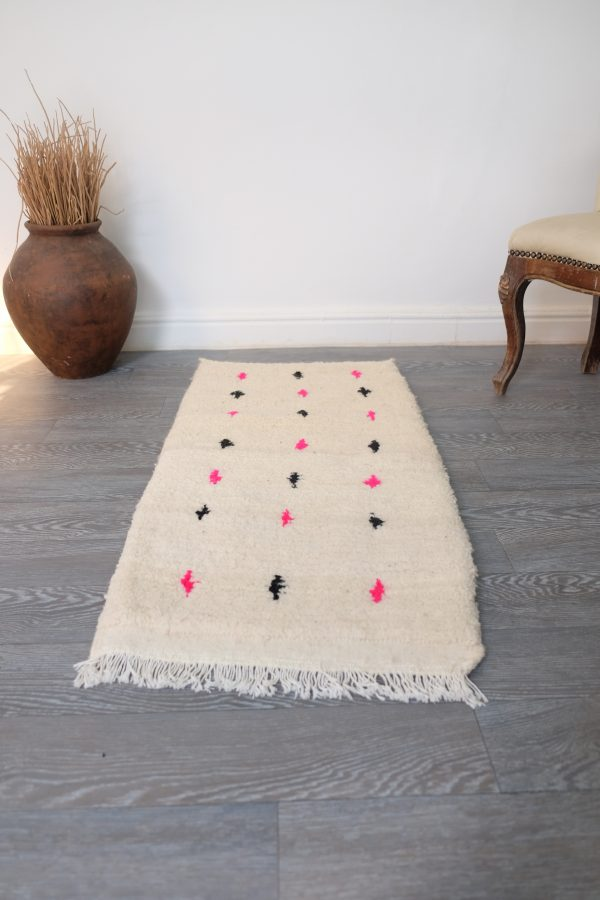 Moroccan Beni ourain Rug 3.1ft x 1.6ft