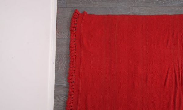 Large red moroccan rug, 11.8 ft x 4.98 ft