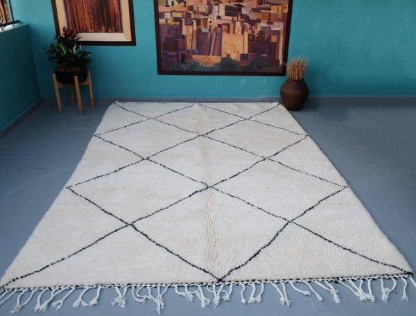 Moroccan beni Ourain rug 9.84 ft