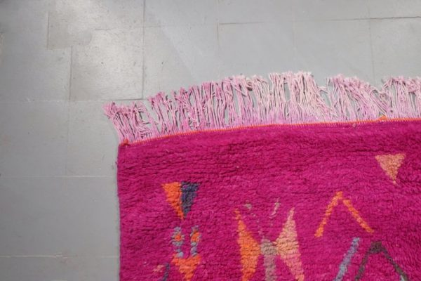 Pink Moroccan rug, 8.07 ft x 4.75 ft